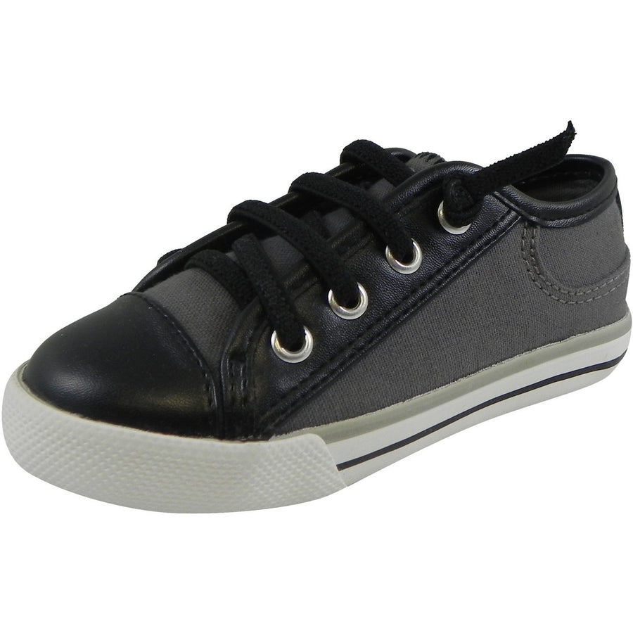 Umi Boys' & Girls' Gray Multi Dax Sneaker - Just Shoes for Kids  - 1