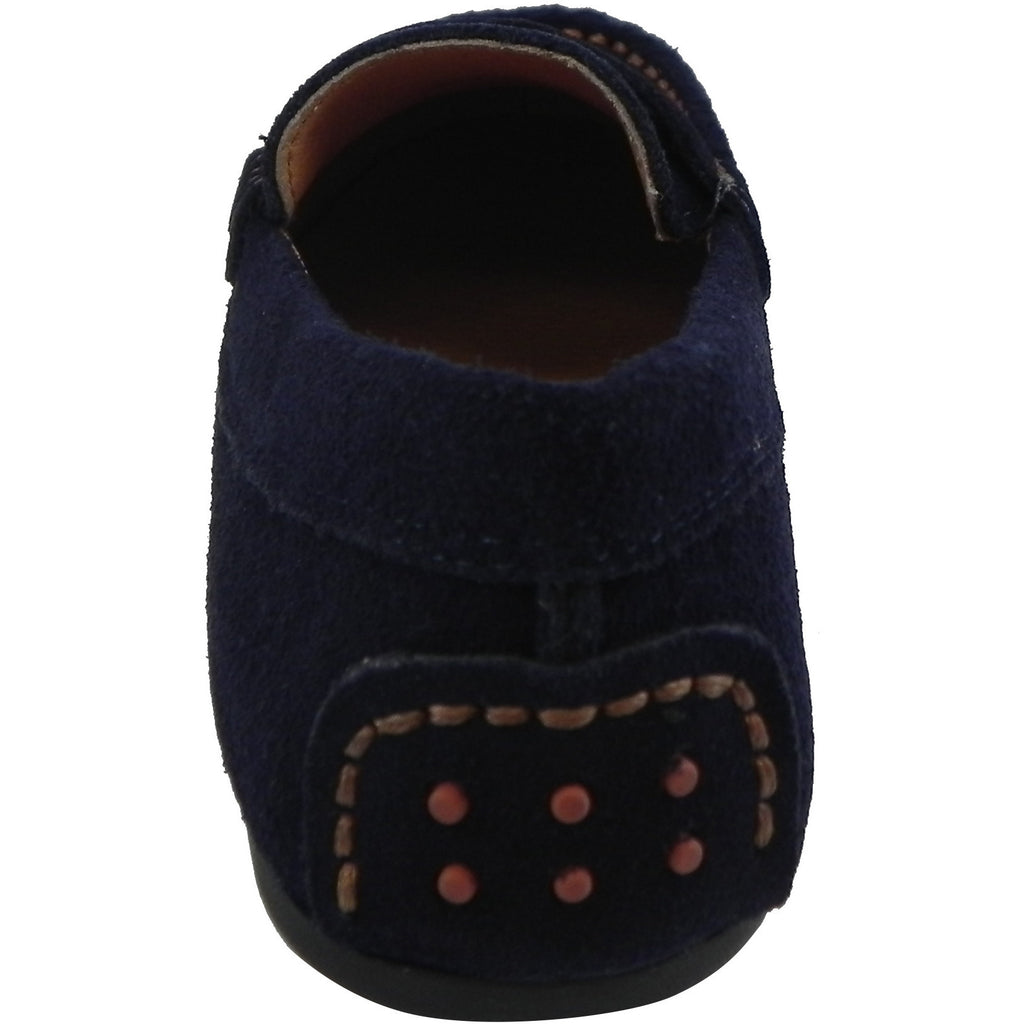 Umi Boy's David Leather Slip On Oxford Loafer Shoes Navy - Just Shoes for Kids  - 3