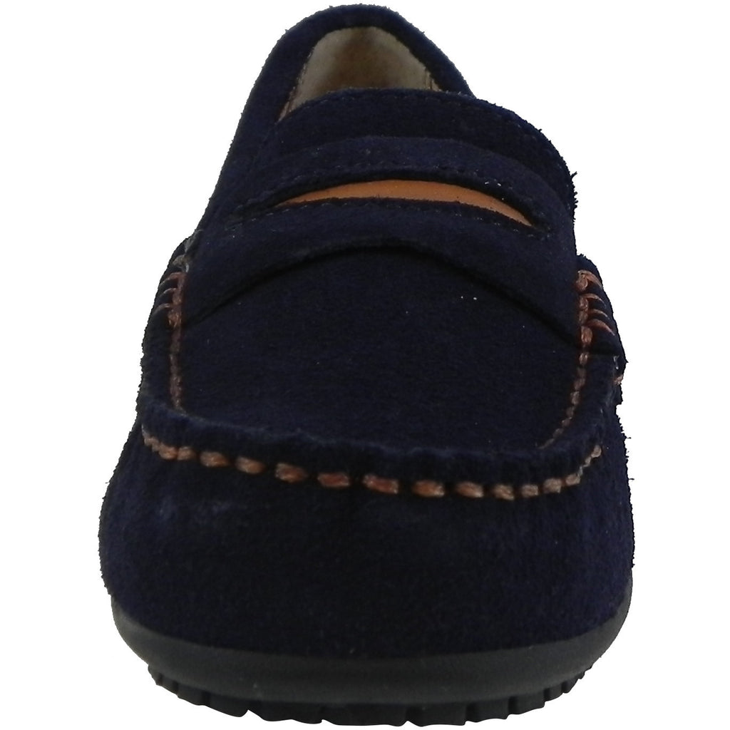Umi Boy's David Leather Slip On Oxford Loafer Shoes Navy - Just Shoes for Kids  - 5