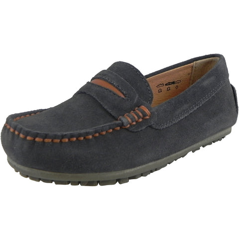 Umi Boys' Dark Gray David Loafer - Just Shoes for Kids  - 1