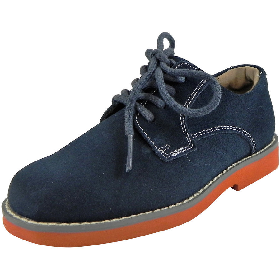 Florsheim Boy's Kearny Suede Classic Lace Up Oxford Shoes Navy - Just Shoes for Kids  - 1