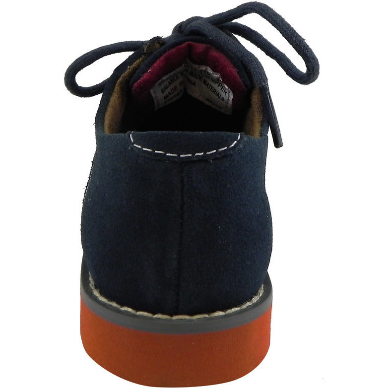Florsheim Boy's Kearny Suede Classic Lace Up Oxford Shoes Navy - Just Shoes for Kids  - 3