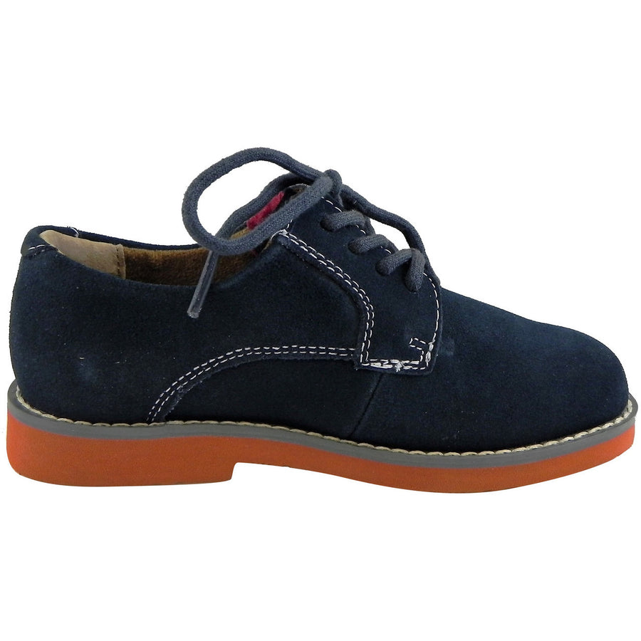 Florsheim Boy's Kearny Suede Classic Lace Up Oxford Shoes Navy - Just Shoes for Kids  - 4