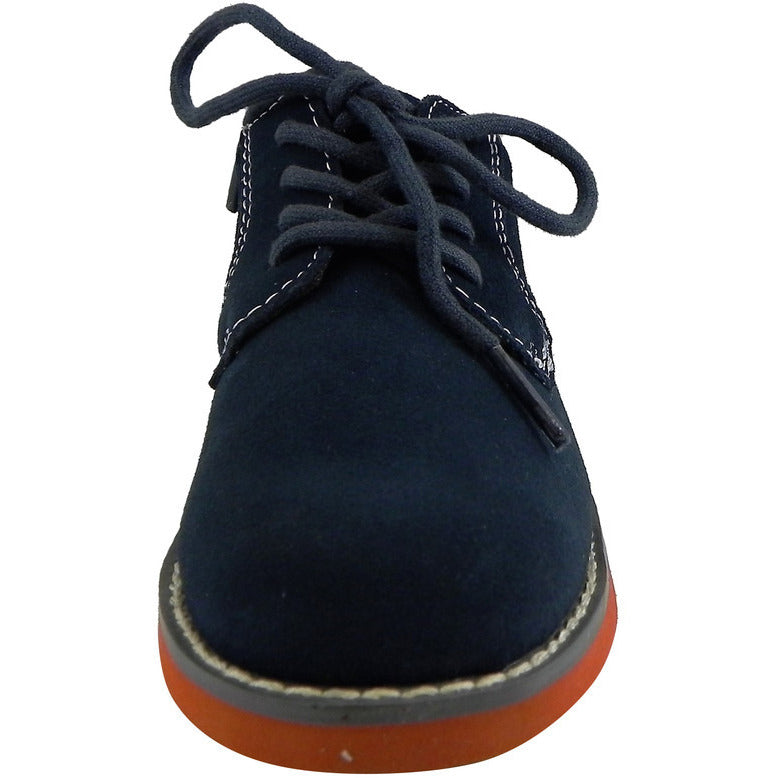 Florsheim Boy's Kearny Suede Classic Lace Up Oxford Shoes Navy - Just Shoes for Kids  - 5