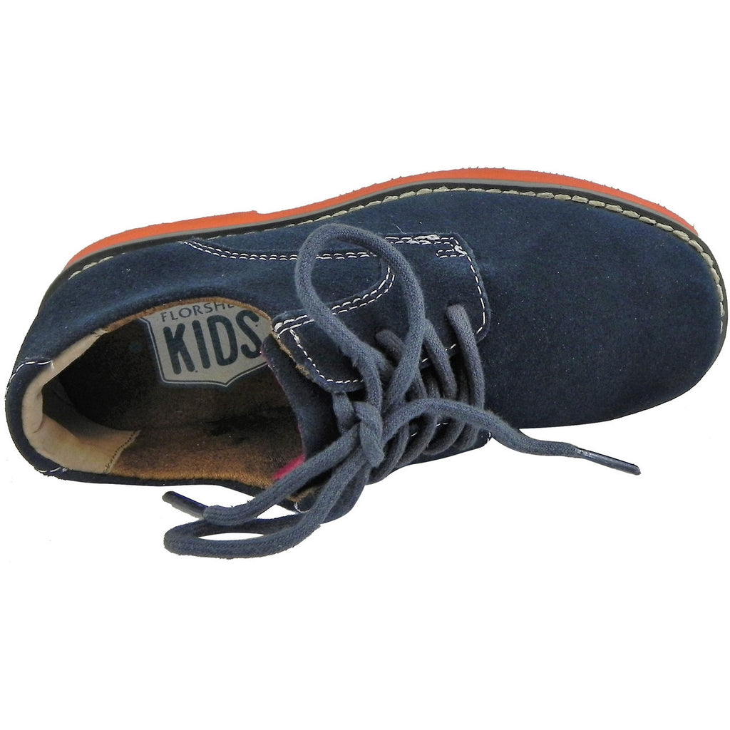 Florsheim Boy's Kearny Suede Classic Lace Up Oxford Shoes Navy - Just Shoes for Kids  - 6