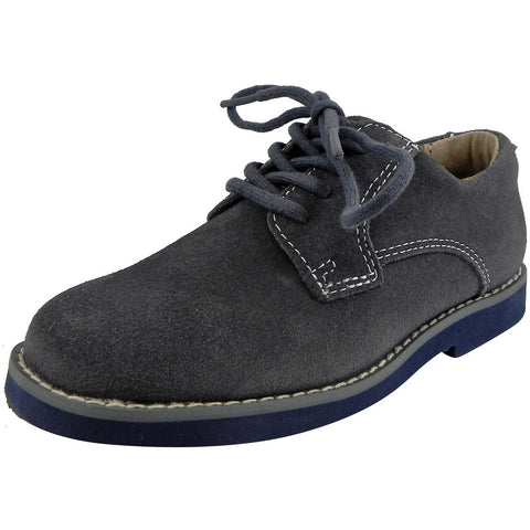 Florsheim Boy's Kearny Suede Classic Lace Up Oxford Shoes Grey - Just Shoes for Kids  - 1