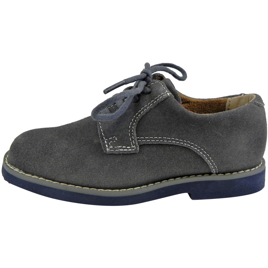 Florsheim Boy's Kearny Suede Classic Lace Up Oxford Shoes Grey - Just Shoes for Kids  - 2