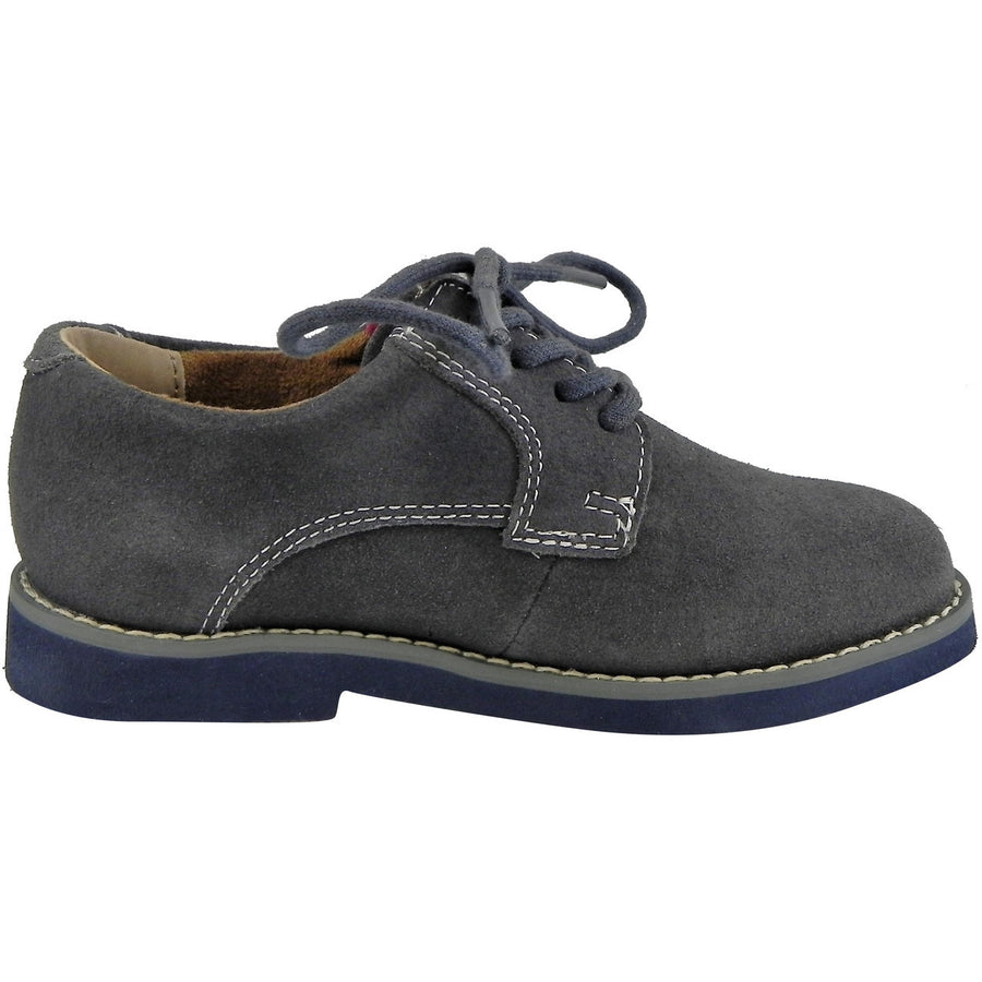 Florsheim Boy's Kearny Suede Classic Lace Up Oxford Shoes Grey - Just Shoes for Kids  - 4