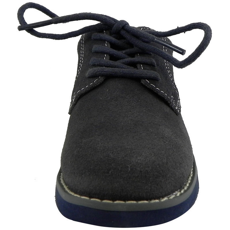Florsheim Boy's Kearny Suede Classic Lace Up Oxford Shoes Grey - Just Shoes for Kids  - 5