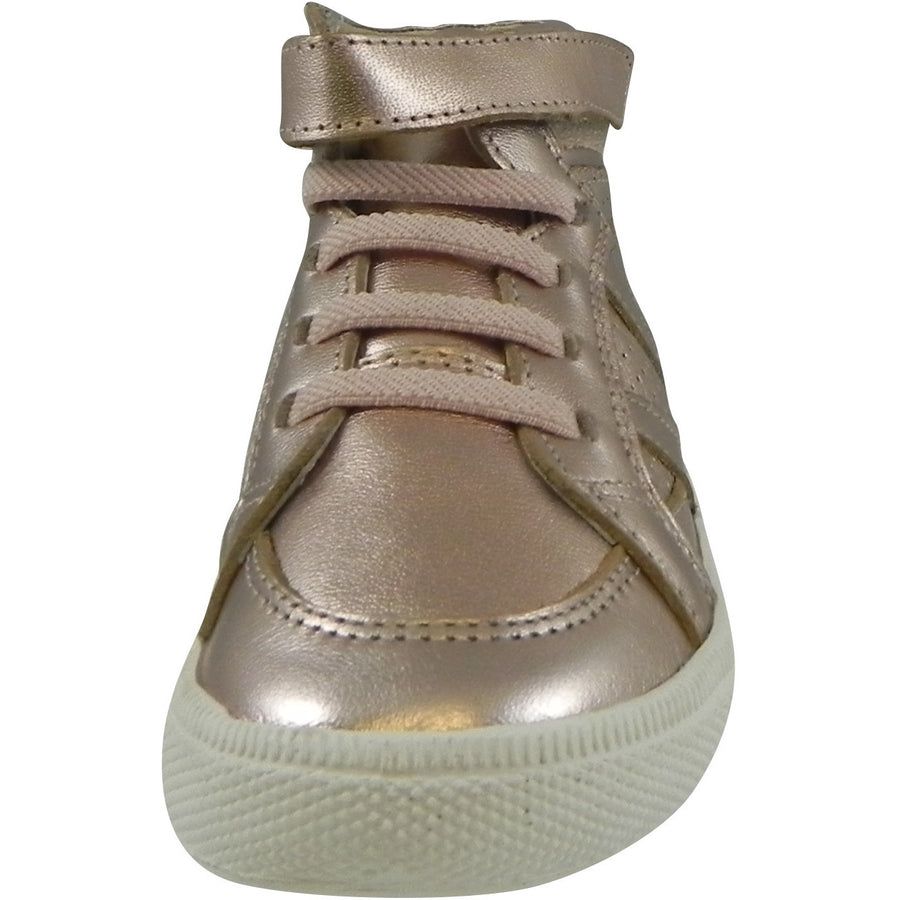Old Soles Girl's 1008 Star Jumper High Top Sneaker Copper - Just Shoes for Kids  - 4