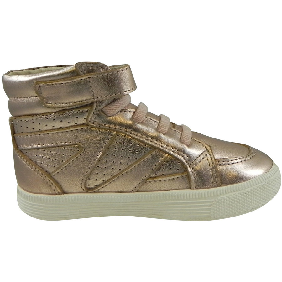 Old Soles Girl's 1008 Star Jumper High Top Sneaker Copper - Just Shoes for Kids  - 3