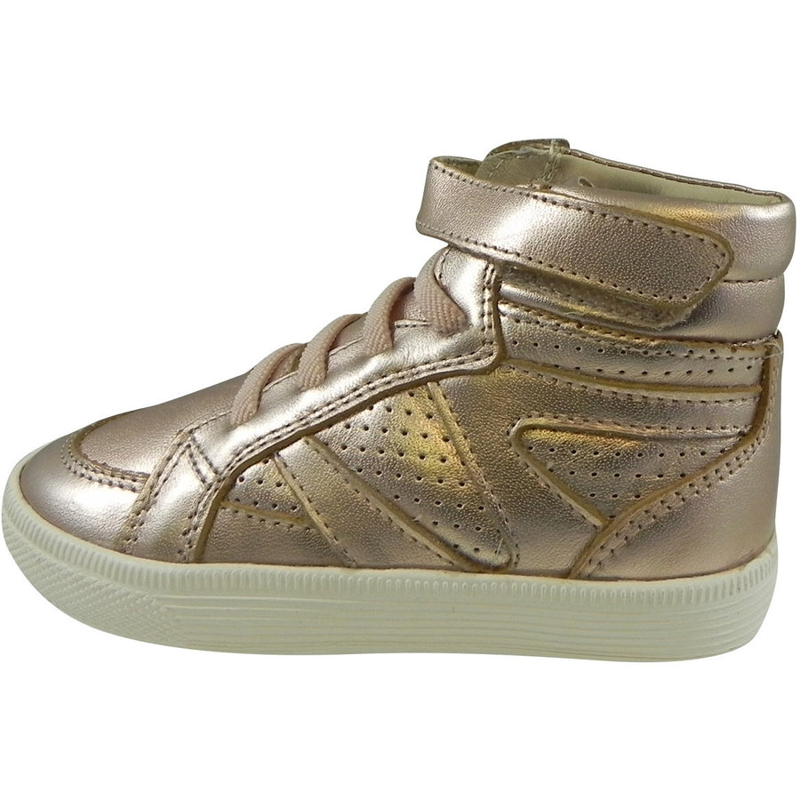Old Soles Girl's 1008 Star Jumper High Top Sneaker Copper - Just Shoes for Kids  - 2