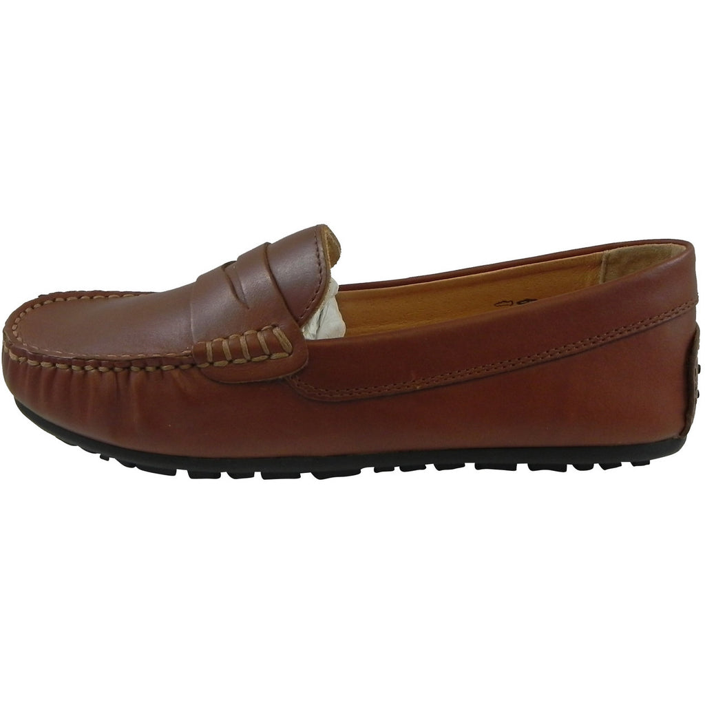 Umi Boy's David Leather Slip On Oxford Loafer Shoes Cognac - Just Shoes for Kids  - 2