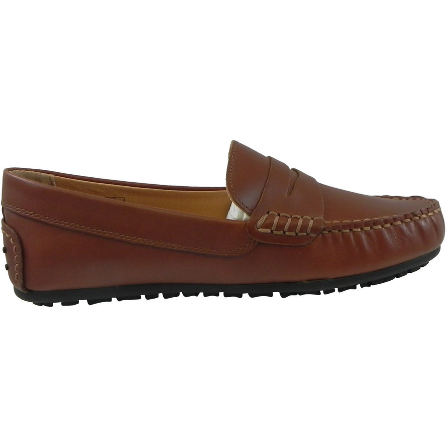 Umi Boy's David Leather Slip On Oxford Loafer Shoes Cognac - Just Shoes for Kids  - 4