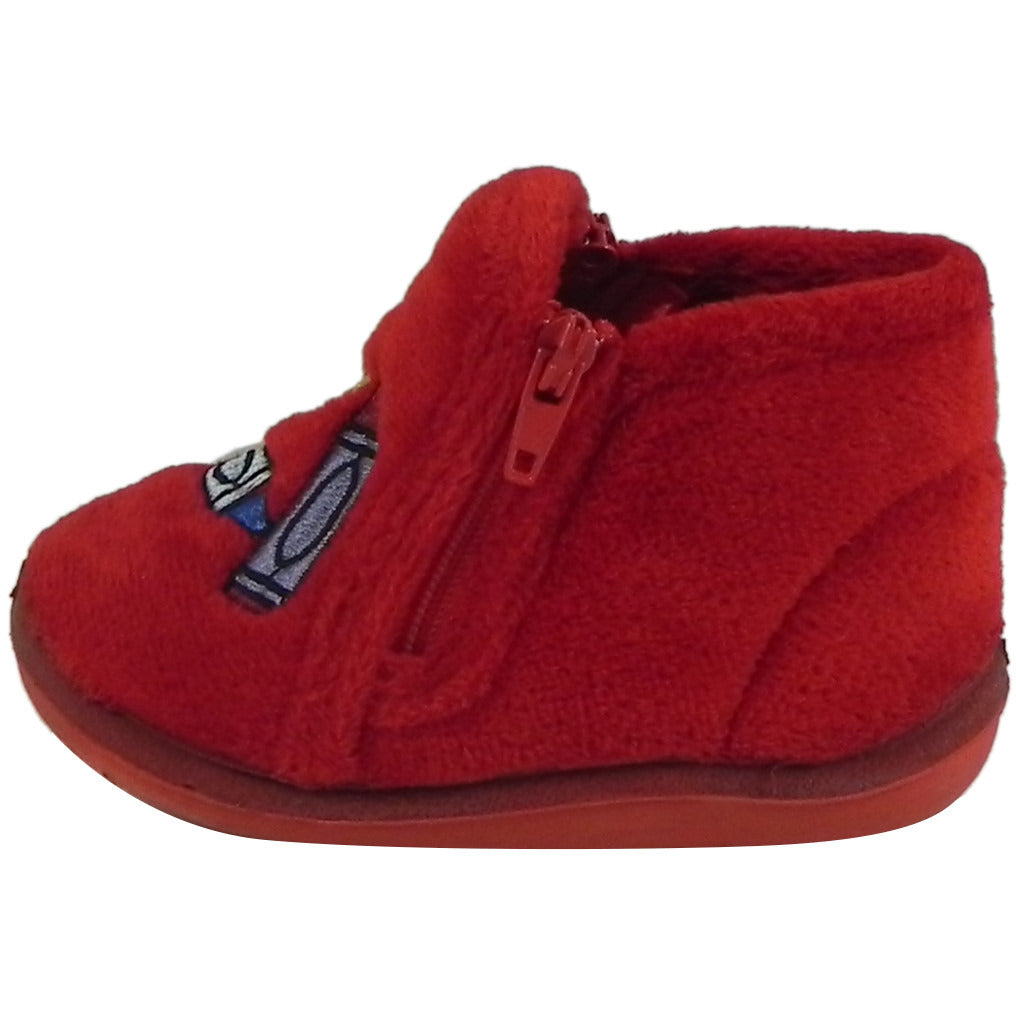 Foamtreads Kid's Sparky Red Zipper Slipper Boot 4 M US Toddler - Just Shoes for Kids  - 2