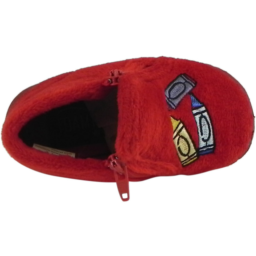 Foamtreads Kid's Sparky Red Zipper Slipper Boot 4 M US Toddler - Just Shoes for Kids  - 4