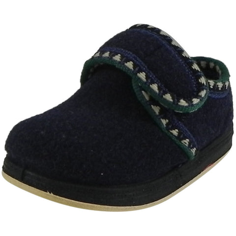 Foamtreads Kid's Rocket Navy Wool Slipper Shoe - Just Shoes for Kids  - 1