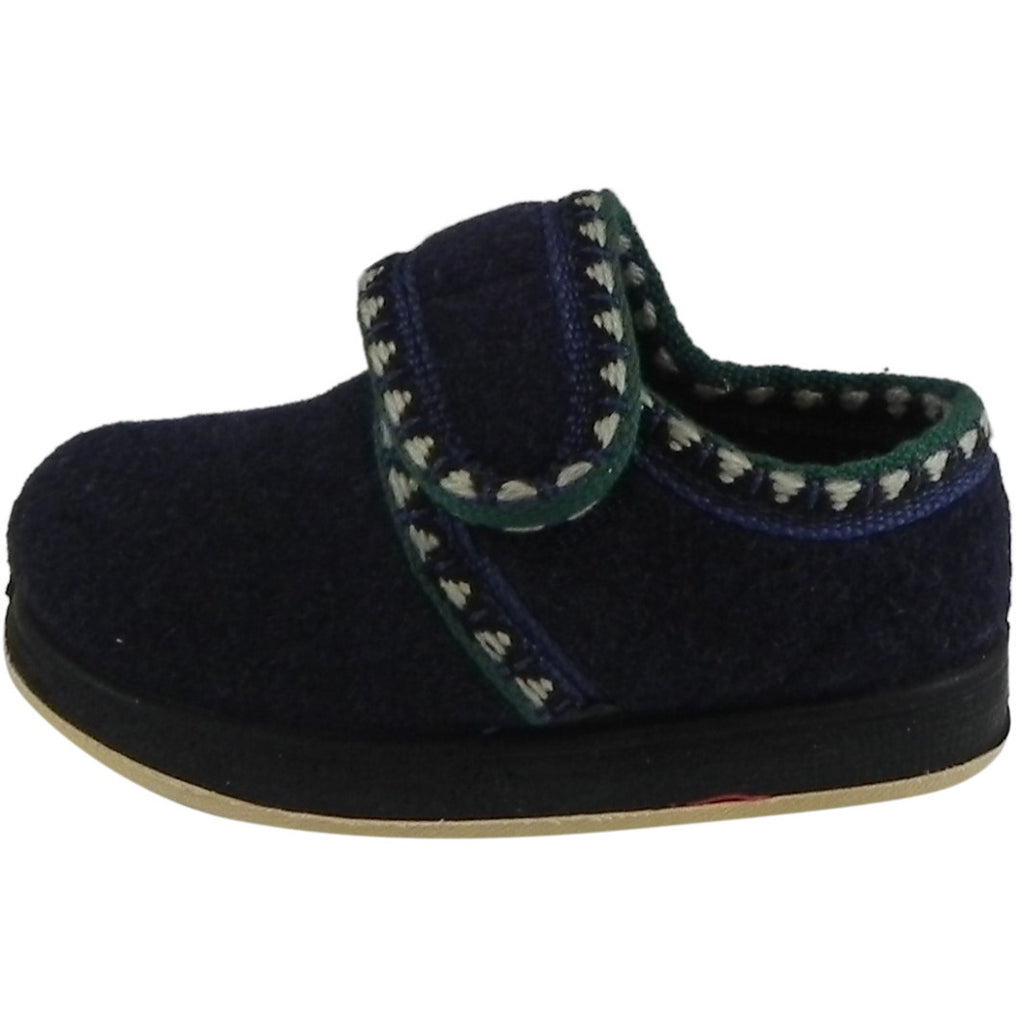 Foamtreads Kid's Rocket Navy Wool Slipper Shoe - Just Shoes for Kids  - 2