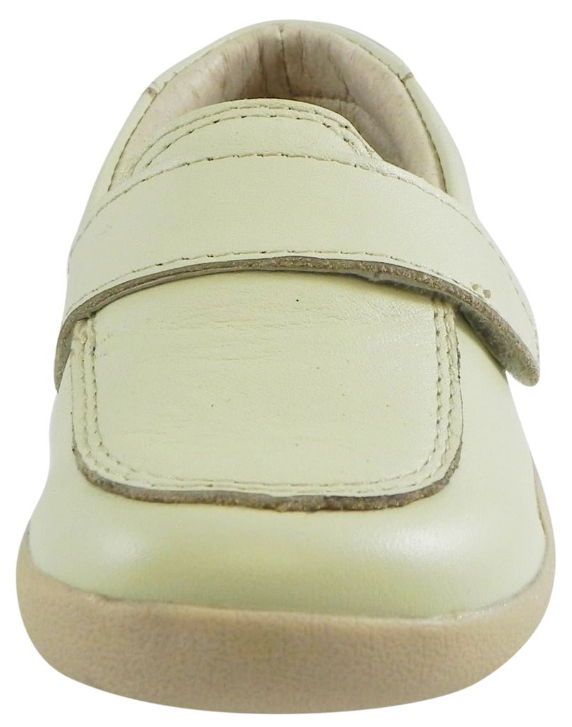 Old Soles Girl's and Boy's 346 Business Loafer Cream Champagne Leather Slip On Shoe