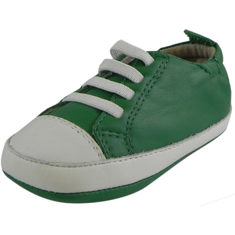 Old Soles Boy's & Girl's 030 Green & White Eazy Tread Sneaker Shoe
