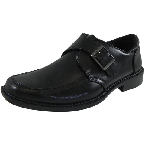 Josmo Jospeh Allen Boy's Black Dress Shoe with Buckle - Just Shoes for Kids  - 1