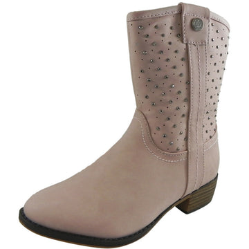 Josmo Nanette Lepore Girl's Pink Studded Western Boot - Just Shoes for Kids  - 1