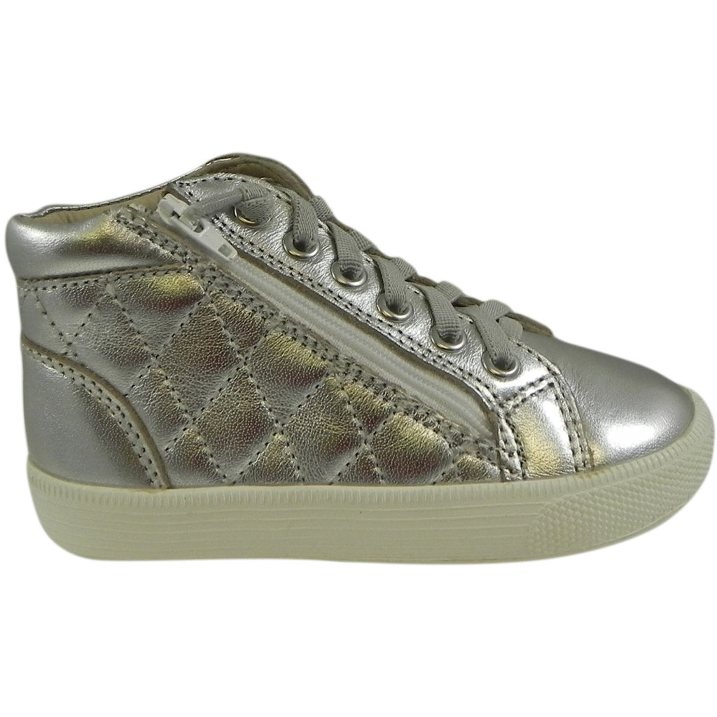 Old Soles Girl's & Boy's 1041 Silver Eazy Quilt Sneaker