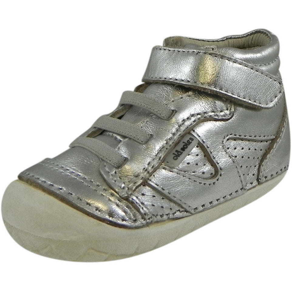 Old Soles Girl's 4003 Silver Pave Leader Shoe - Just Shoes for Kids  - 1