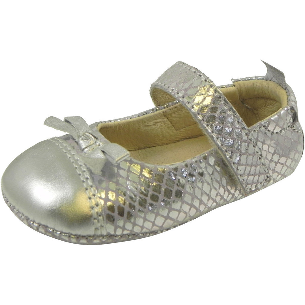 Old Soles Girl's Sassy Style 097 Silver/Lavender Snake Leather Mary Jane - Just Shoes for Kids  - 1