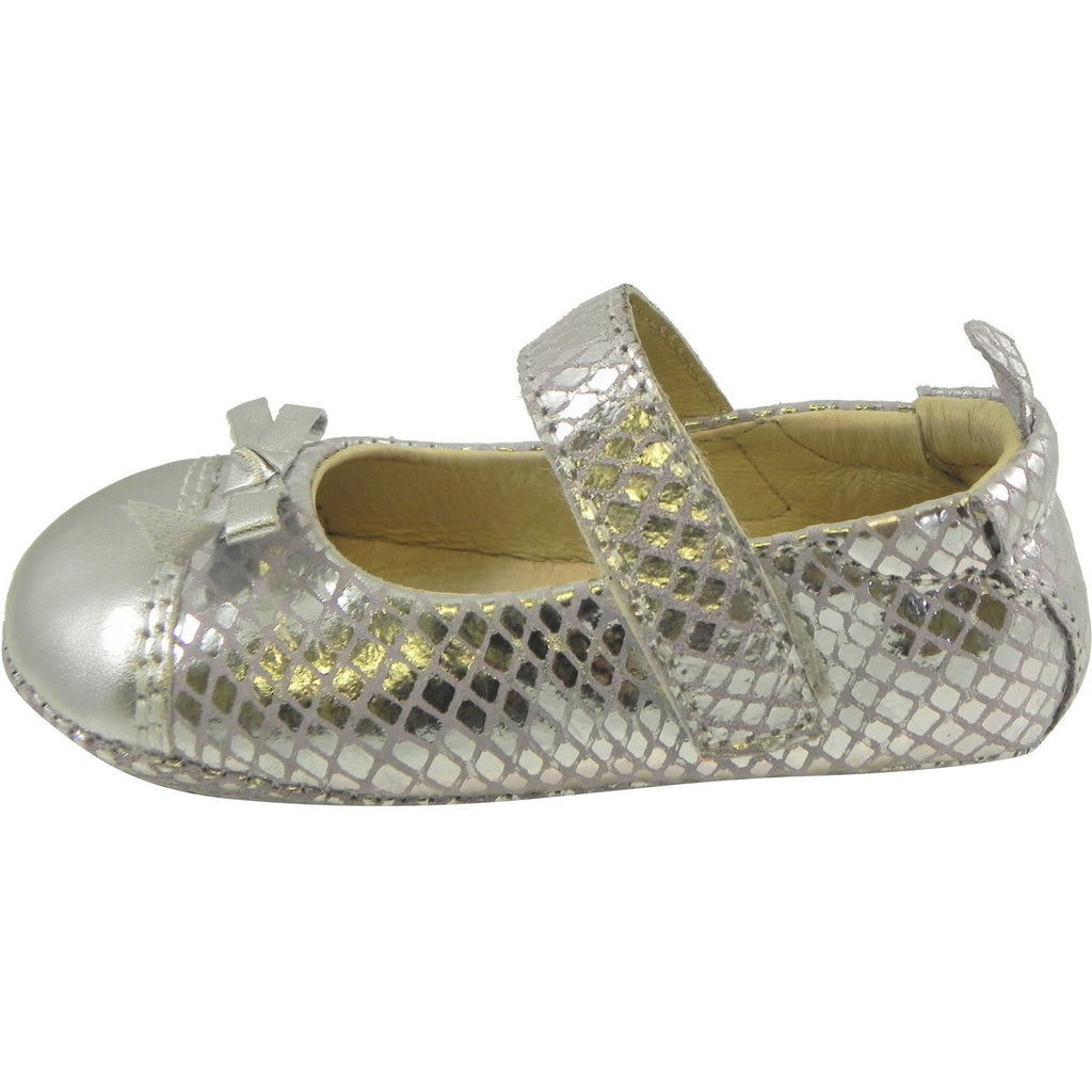 Old Soles Girl's Sassy Style 097 Silver/Lavender Snake Leather Mary Jane - Just Shoes for Kids  - 2