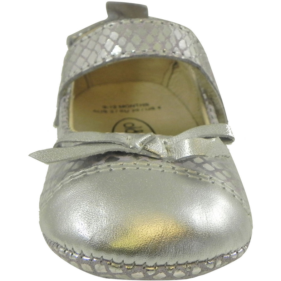 Old Soles Girl's Sassy Style 097 Silver/Lavender Snake Leather Mary Jane - Just Shoes for Kids  - 4