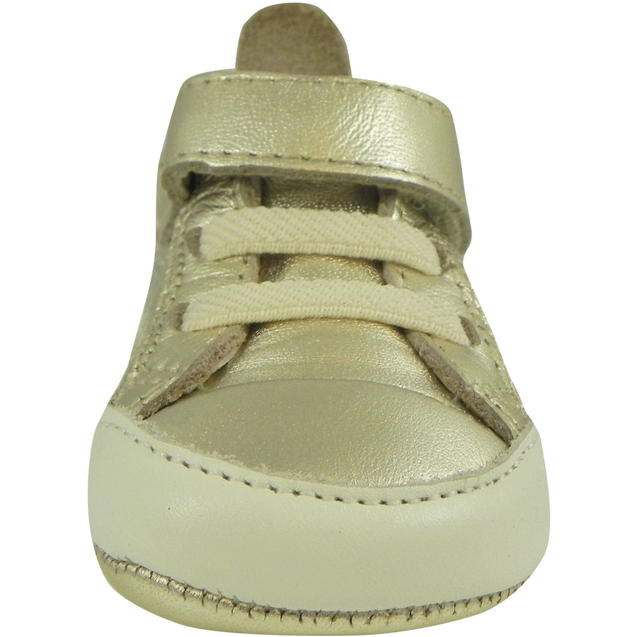 Old Soles Girl's and Boy's Cheer Bambini Gold Leather First-Walker Sneaker - Just Shoes for Kids  - 2