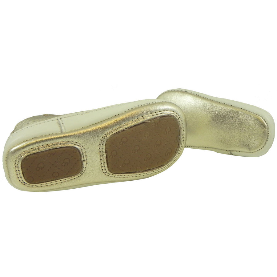 Old Soles Girl's and Boy's Cheer Bambini Gold Leather First-Walker Sneaker - Just Shoes for Kids  - 4