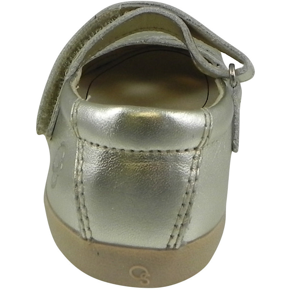 Old Soles Girl's Chianti Metallic Gold Leather Criss Cross Mary Jane Flat - Just Shoes for Kids  - 3