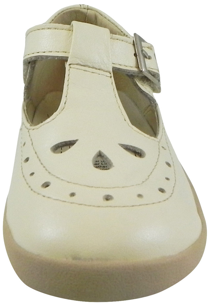 Old Soles Girl's 355 Pearl Metallic Leather T-Strap