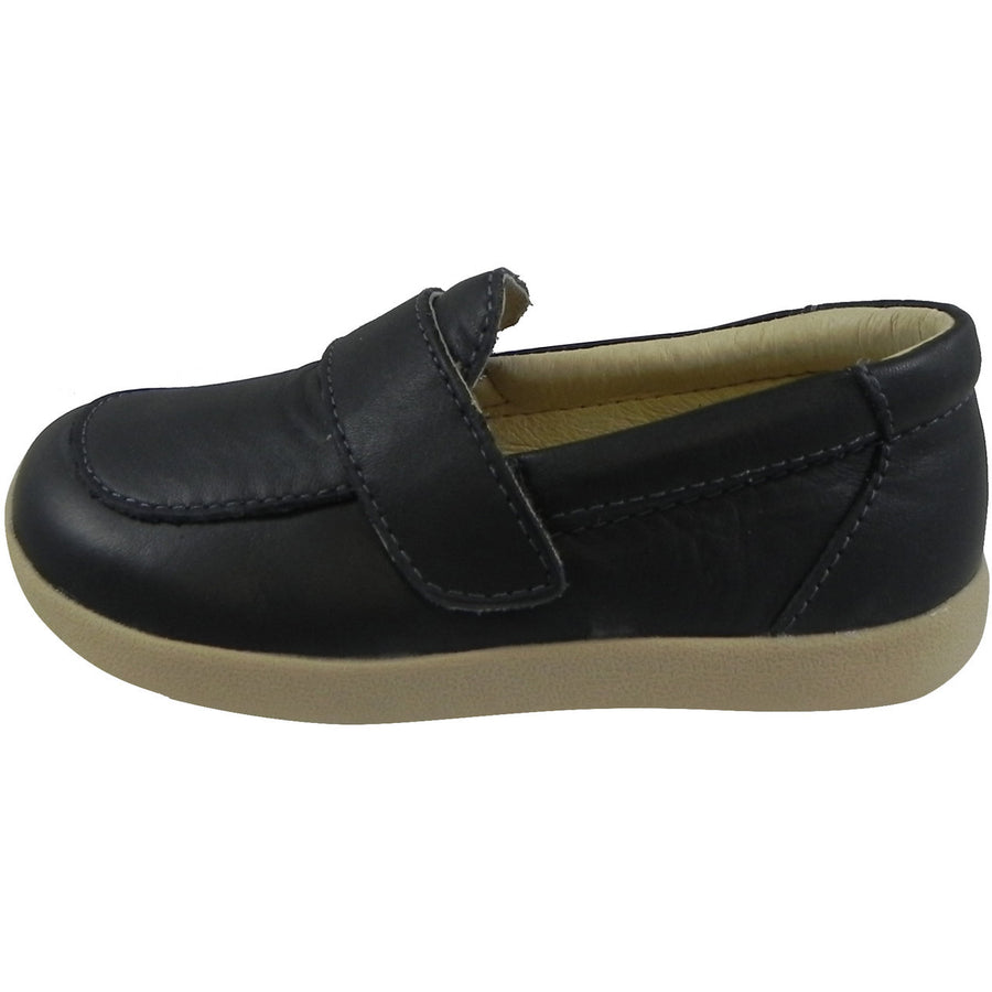 Old Soles Boy's Business Loafer Leather Navy Slip On Shoe Black - Just Shoes for Kids  - 2