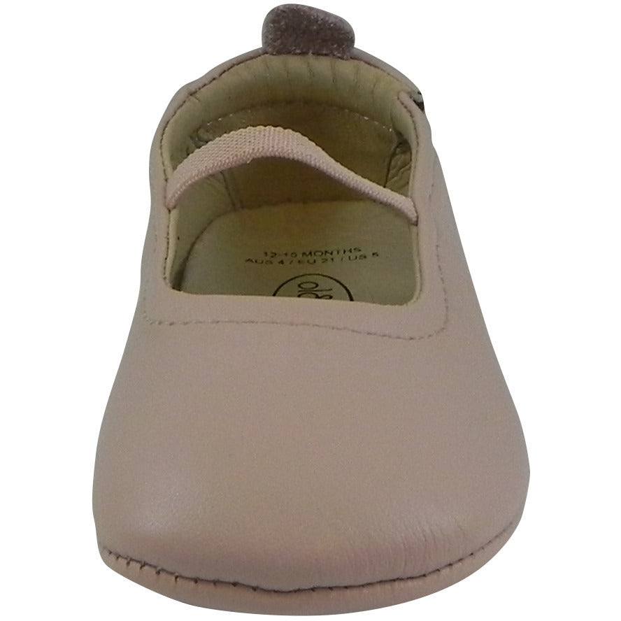 Old Soles Girl's 013 Pink Leather Luxury Ballet Flat - Just Shoes for Kids  - 5