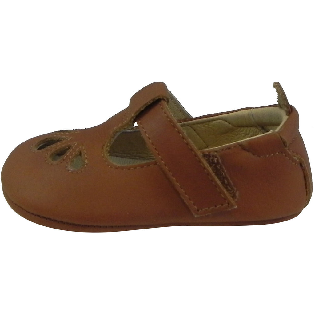 Old Soles Girl's 053 T-Petal Tan Leather Mary Jane - Just Shoes for Kids  - 2