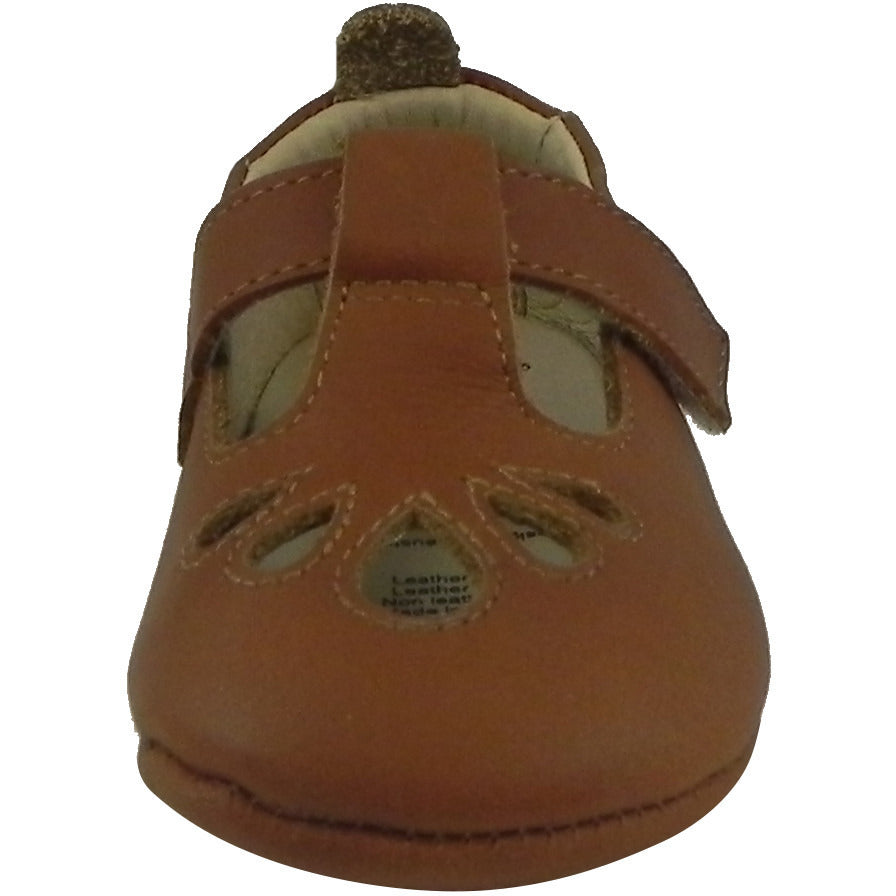 Old Soles Girl's 053 T-Petal Tan Leather Mary Jane - Just Shoes for Kids  - 5