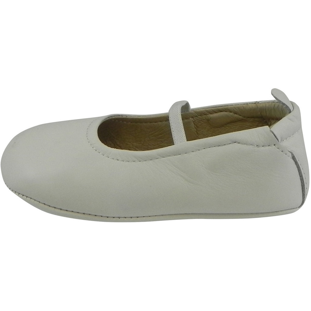 Old Soles Girl's 013 White Leather Luxury Ballet Flat - Just Shoes for Kids  - 2