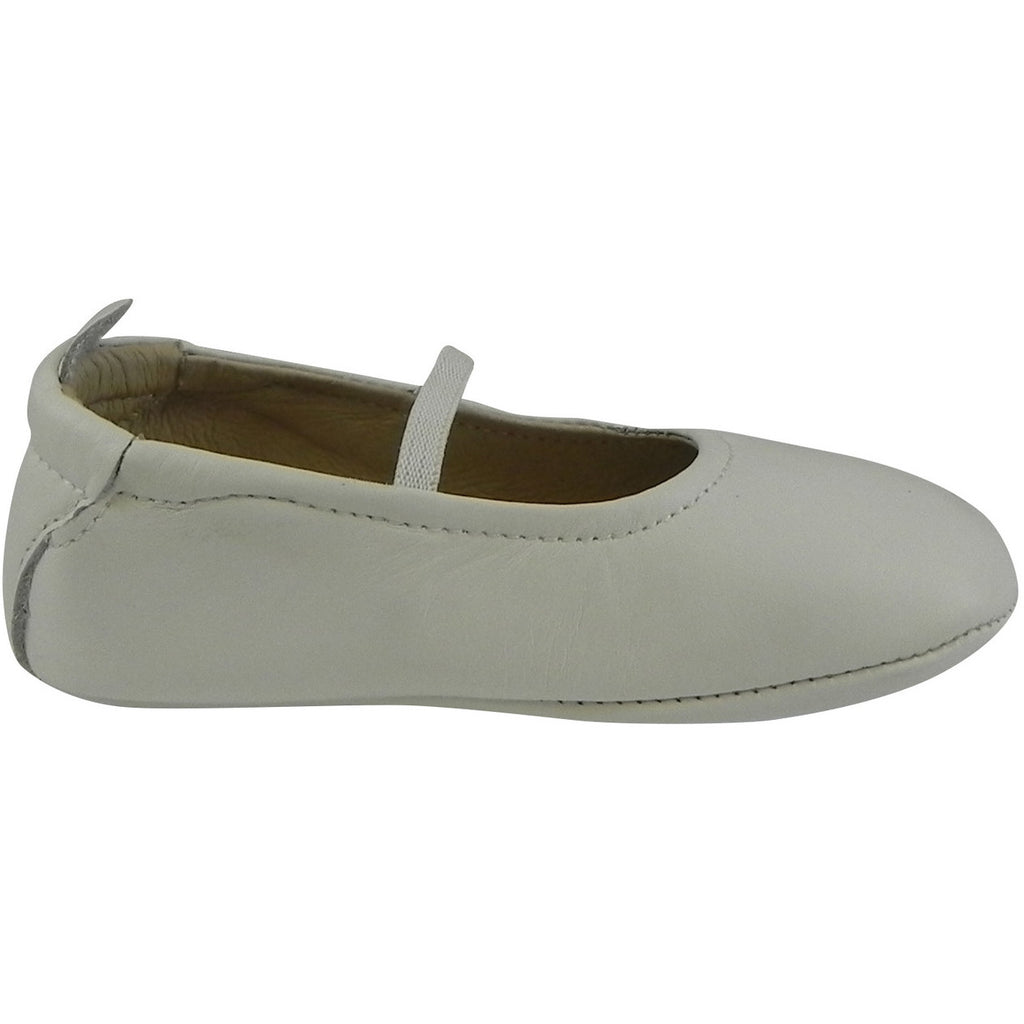 Old Soles Girl's 013 White Leather Luxury Ballet Flat - Just Shoes for Kids  - 4