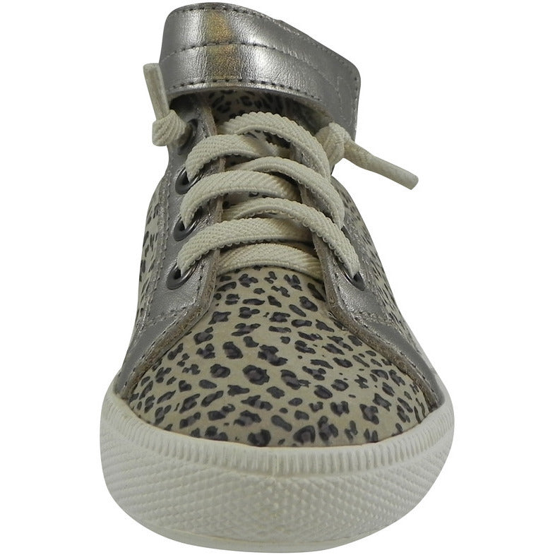 Old Soles 1035 Girl's Plush Shoe Titanium Lace Up High Tops Sneaker