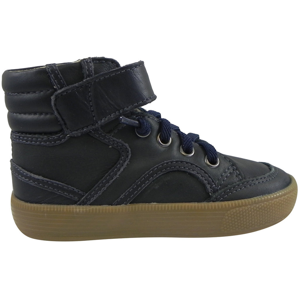 Old Soles 1026 Boy's Navy OS Rap Leather Lace Up Strap High Tops Sneaker - Just Shoes for Kids  - 3