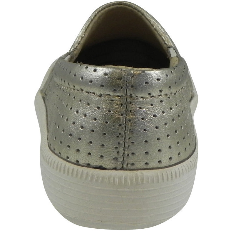Old Soles 1030 Girl's and Boy's Gold Sporty Hoff Breathable Leather Loafers Sneaker Shoe - Just Shoes for Kids  - 5
