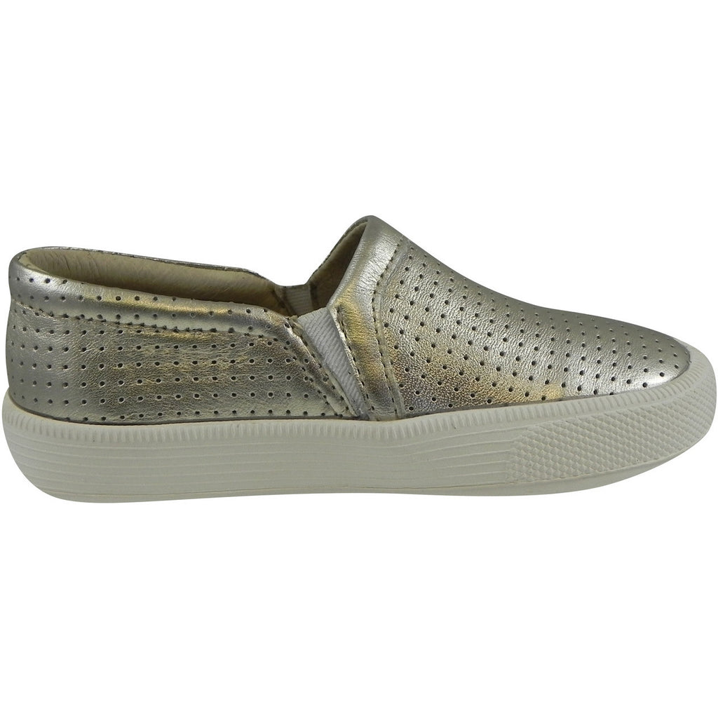 Old Soles 1030 Girl's and Boy's Gold Sporty Hoff Breathable Leather Loafers Sneaker Shoe - Just Shoes for Kids  - 3