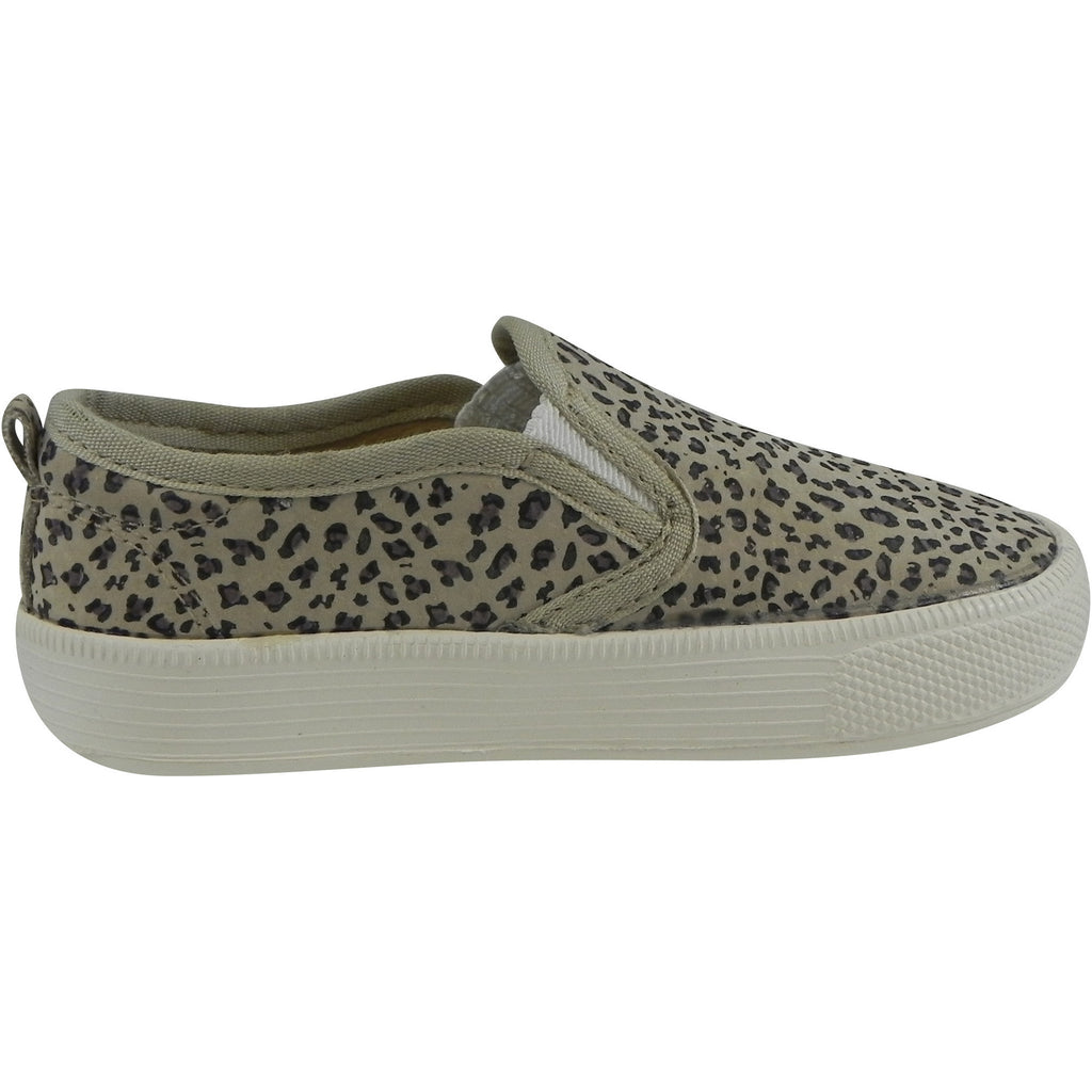 Old Soles Girl's and Boy's 1011 Animal Print Leather Hoff Sneaker