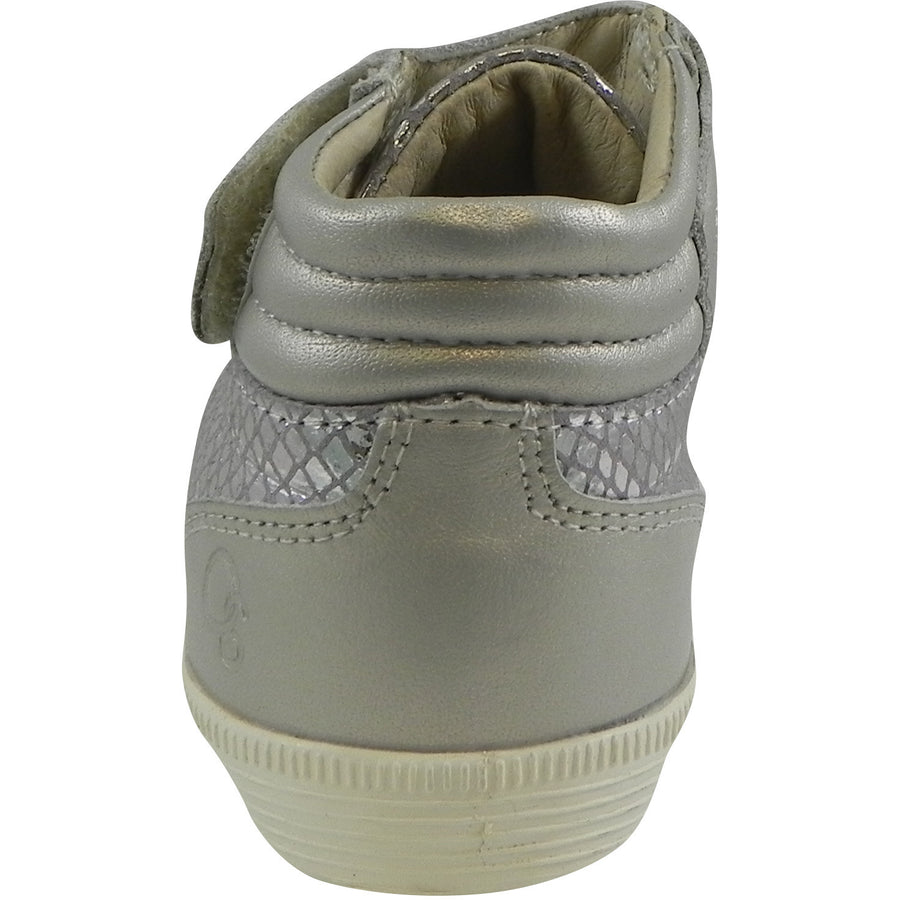 Old Soles 1035 Girl's and Boy's Plush Shoe Lavender Grey Snake Lace Up High Tops Sneaker - Just Shoes for Kids  - 5