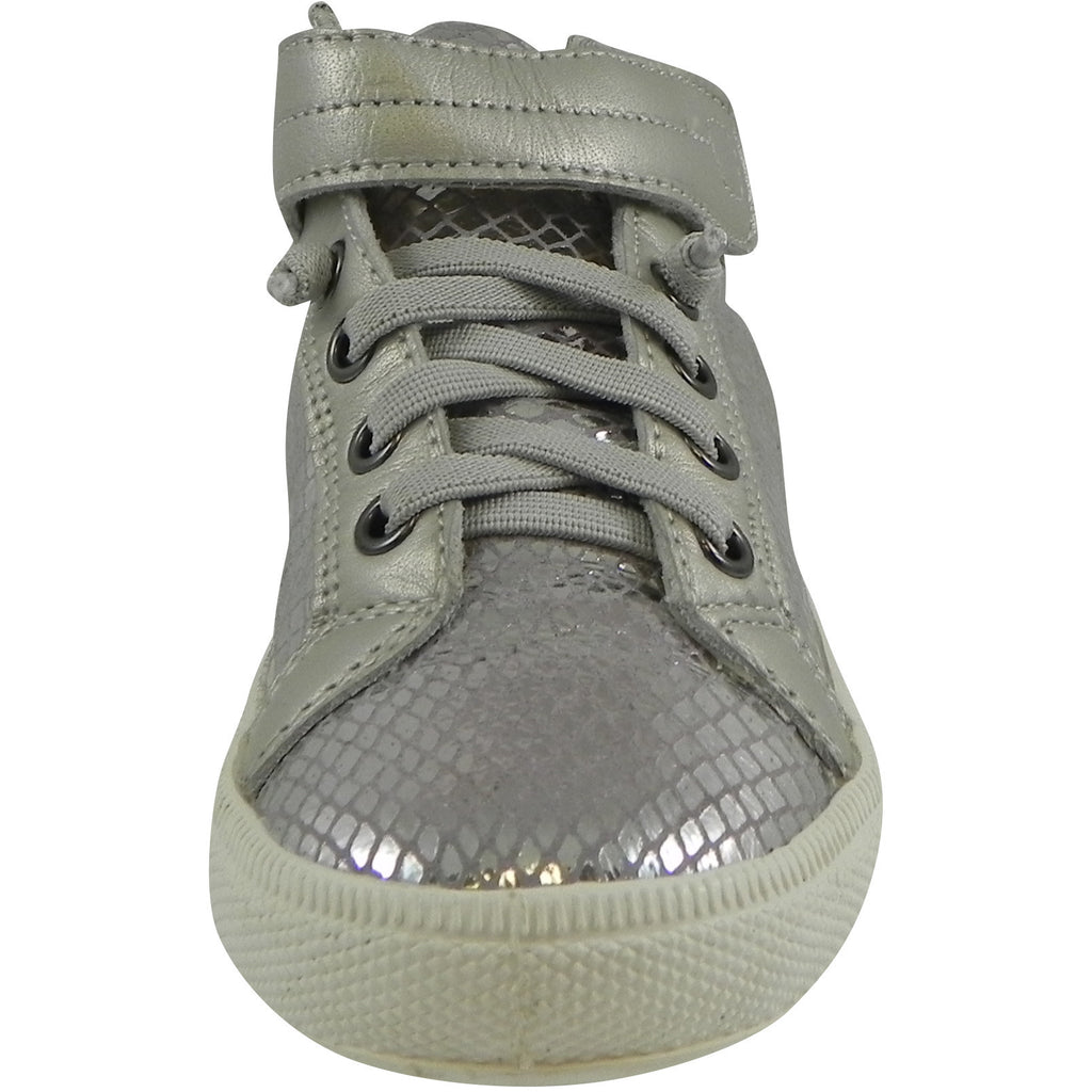 Old Soles 1035 Girl's and Boy's Plush Shoe Lavender Grey Snake Lace Up High Tops Sneaker - Just Shoes for Kids  - 4