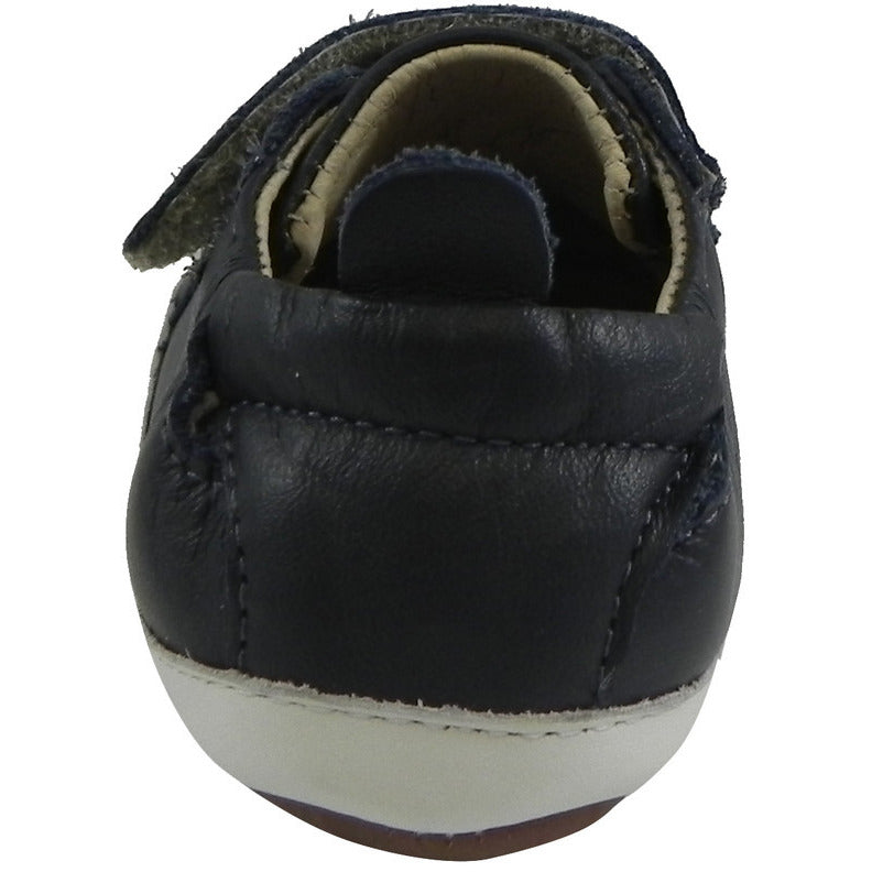 Old Soles 113R Boy's Navy Bambini Soft Leather Double Crib Walker Baby Shoes - Just Shoes for Kids  - 5