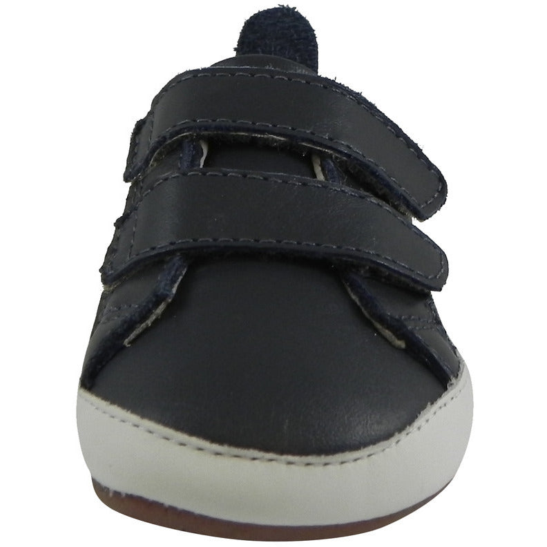 Old Soles 113R Boy's Navy Bambini Soft Leather Double Crib Walker Baby Shoes - Just Shoes for Kids  - 4